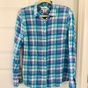 J crew flannel boy shirt size 6. EUC